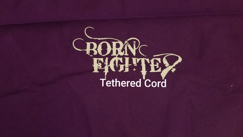 Born Fighter Tethered Cord Warrior Long Sleeve T-Shirt (2XL-5XL)