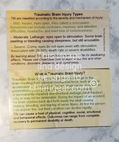 Traumatic Brain Injury (TBI) Pass It On Cards