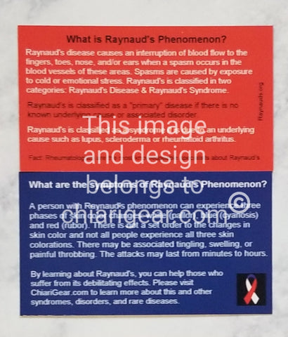 Raynauds Phenomenon Pass It On Cards