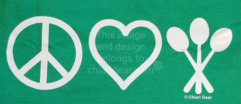 Peace, Love, & Spoons Long Sleeve T-Shirt (2XL-5XL)