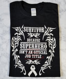 Survivor SuperHero Ladies V-Neck T-Shirt (S-XL)