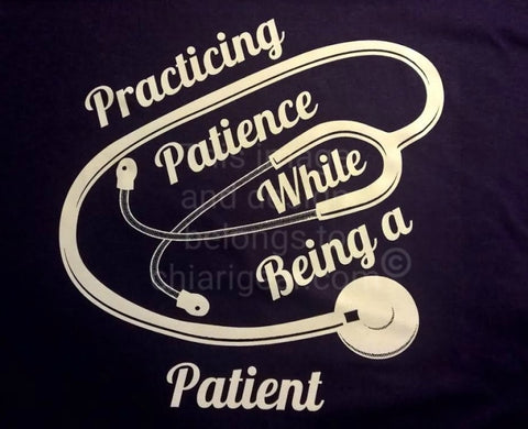 Practicing Patience - Ladies V-Neck T-Shirt (S-XL)