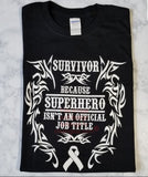 Survivor SuperHero Long Sleeve T-Shirt (2XL-5XL)