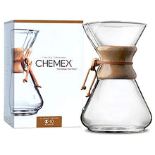 Load image into Gallery viewer, CHEMEX Classic Series, Pour-Over Glass Coffeemaker, 10 Cup - Exclusive Packaging