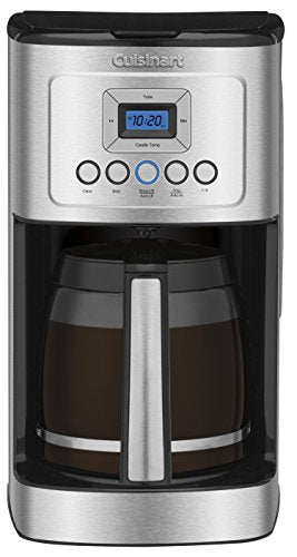Cuisinart DCC-3200P1 DCC-3200CP Perfectemp Coffee Maker, 14 Cup Progammable with Glass Carafe, Stainless Steel