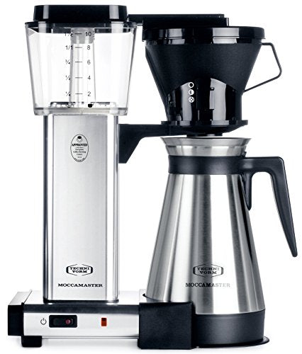 Technivorm KBT Coffee Brewer, 40 oz, Polished Silver