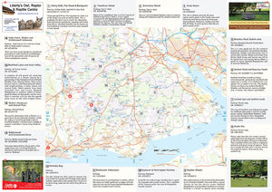 scanned image of New Forest walks map