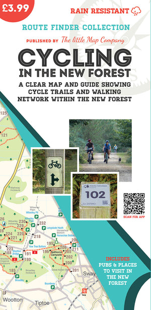 trails from Cycling in the New Forest Map | The Little Map Company