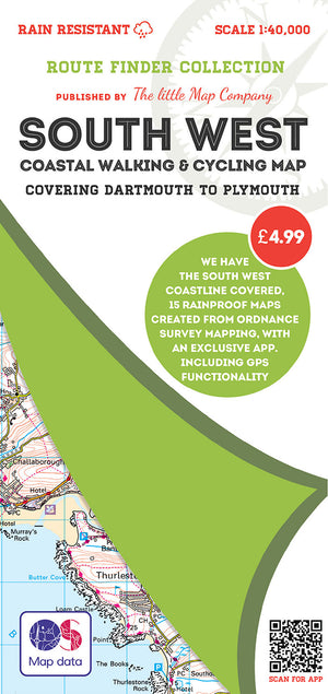 scan of Dartmouth Walks to Plymouth - South West Coastal Waking & Cycling Map