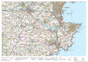 scanned image of Dawlish Map to Dartmouth - South West Coastal Waking & Cycling Map