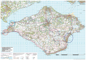scanned image of Isle of Wight map