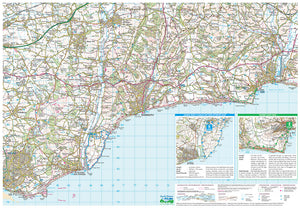 scanned image of Lyme Bay Map Including 5 Circular Walks