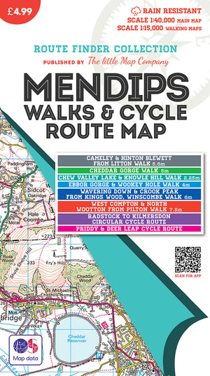 scan of The Mendips Map front cover