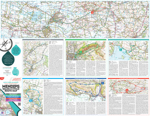 scan of The Mendips Map walks