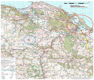 scanned image of Minehead & Surrounding Area Map