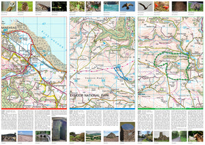 scan of Minehead & Surrounding Area Map walks
