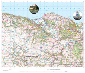 scanned image of Minehead map