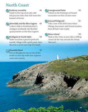 inside the Pembrokeshire - 40 Walks Book image 1