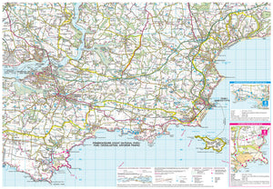 scanned image of Pembrokeshire South Map including 4 Circular Walks