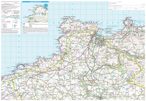 scanned image of Pembrokeshire West Map including 4 Circular Walks