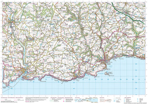 scanned image of Plymouth Map to Fowey - South West Coastal Walking & Cycling Map