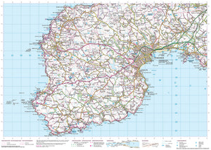 scan of Porthleven Map to Trevowhan - Coastal Walking & Cycling Map trails