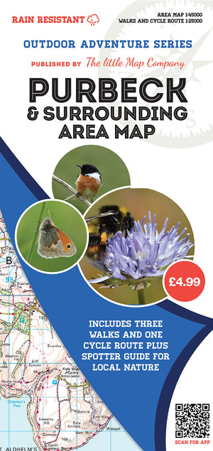 scan of Purbeck Map of Surrounding Area  | The Little Map Company nature