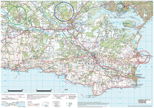 scanned image of Purbeck Map of Surrounding Area  | The Little Map Company