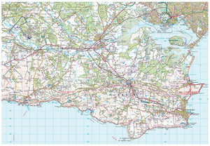 scanned image of Purbeck Map including 4 Circular Walks