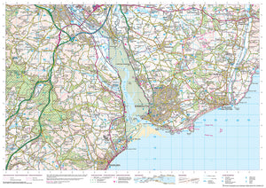 scanned image of Seaton Map to Dawlish - South West Coastal Walking Map