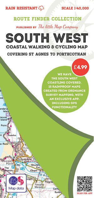 scan of St Agnes to Porthcothan - South West Coastal Walking & Cycling Map trails