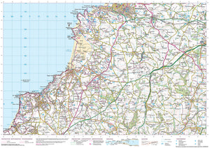 scanned image of St Agnes to Porthcothan - South West Coastal Walking & Cycling Map