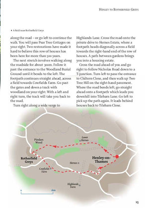 inside the The Chilterns - 40 Favourite Walks Book image 3