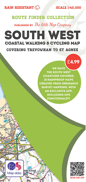 scan of Trevowhan to St Agnes - South West Coastal Walking & Cycling Map trails