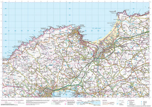 scanned image of Trevowhan to St Agnes - South West Coastal Walking & Cycling Map