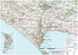 scanned image of Weymouth Map of Surrounding Area | The Little Map Company