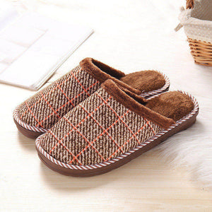 685431391846 Winter Home Slippers Men Footwear Comfortable House Indoor Slippers with Fur  Pattern Male Slipper Warm Shoes Big Size 48