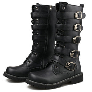 8c12213dc New spring/autumn fashion Men's Martin boots male High Motocycle Boots  casual rubber rain snow