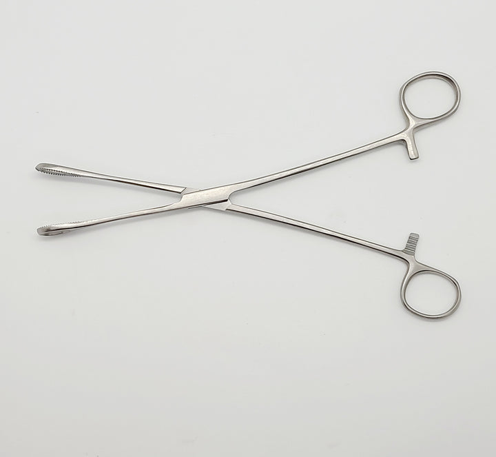"Sponge Forceps 9.5"" Straight, Serrated"