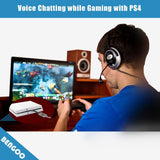 USB Audio Adapter Converter For Gaming Headset & More