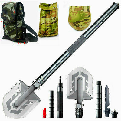 Portable Military Shovel with Tactical Waist Pack & Multi-Tools