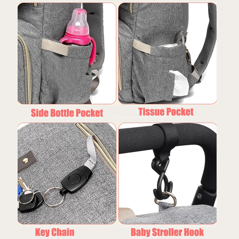 Diaper Bag Backpack With USB Port