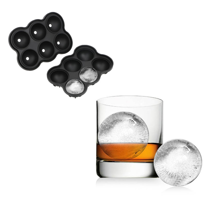 Large Ice Cube Maker 6 Silicone Mold Big Sphere