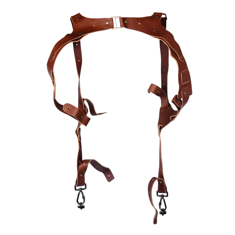 Dual shoulder Leather Camera Strap