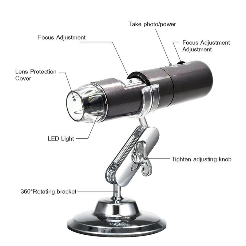 HD 1080P 1000X WiFi Digital Microscope Camera