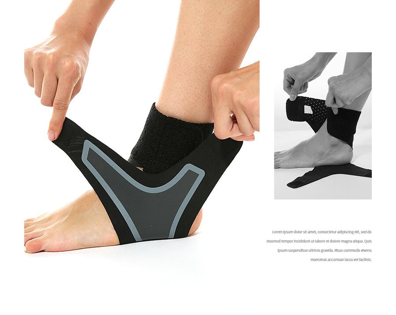 THE ADJUSTABLE ELASTIC ANKLE BRACE - Ankle Support Brace, Elasticity Free Adjustment Protection Foot Bandage, Sprain Prevention Sport Fitness Guard Band