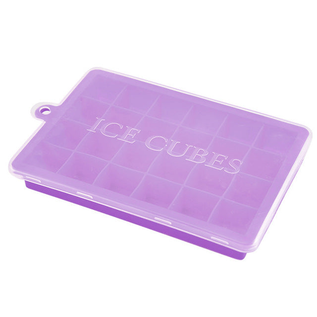 Silicone Ice Mold 24 Square Cavities