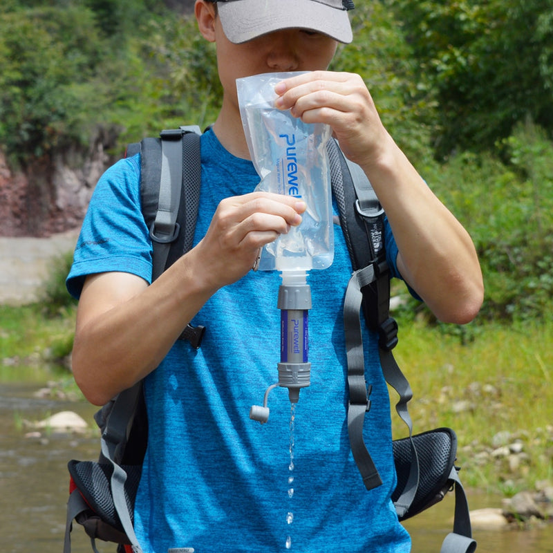 Portable Water Filter Straw Emergency Water Filter