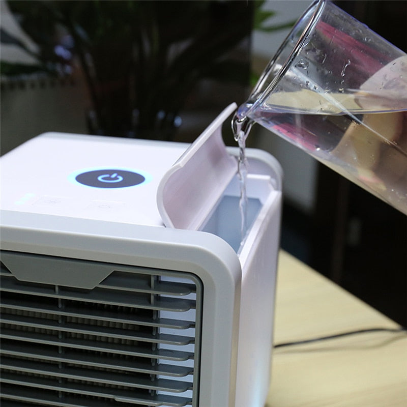 Mini Portable USB LED Air Cooler