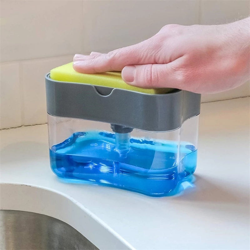 2-in-1 Sponge Holder Soap Dispenser